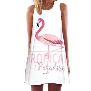 New Boho Flamingo Summer Dress